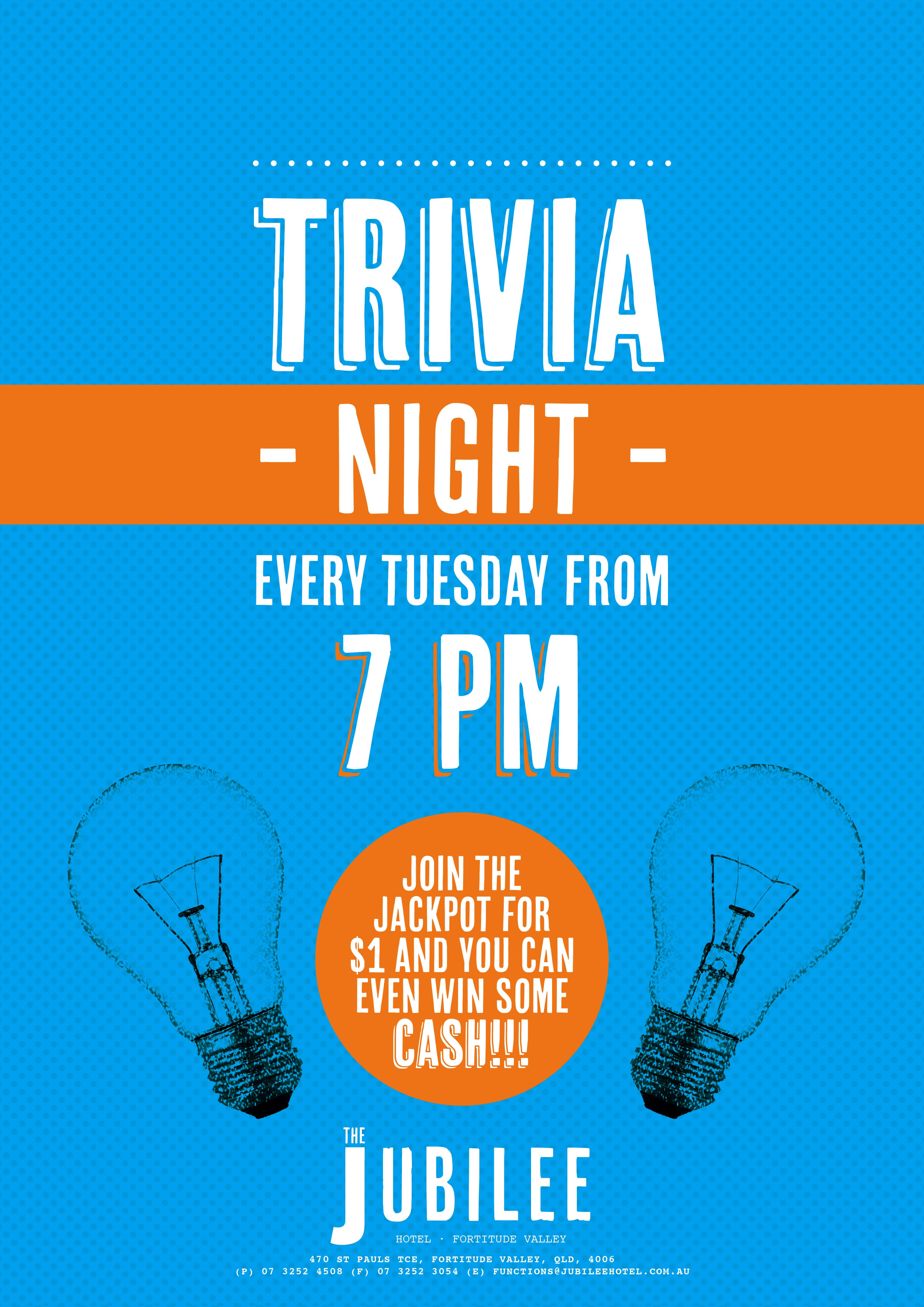 Poster design for quiz - Poster Tuesday Trivia Picture