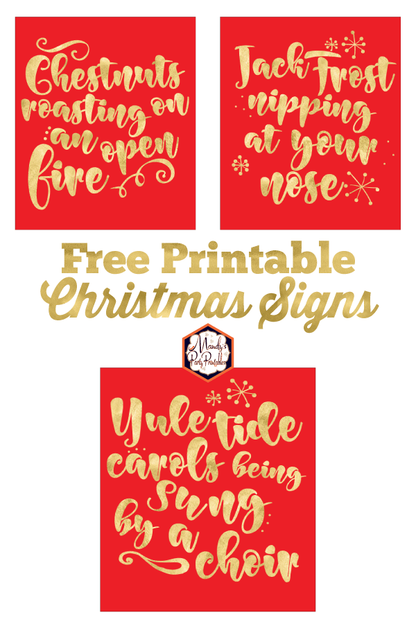 graphic about Free Printable Holiday Closed Signs called Absolutely free Printable Xmas Indicator Xmas Carol Printable