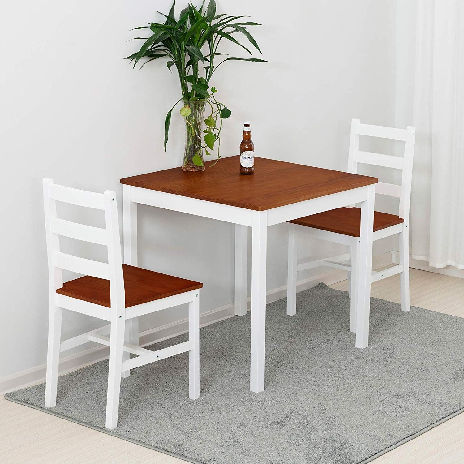 Wood Kitchen Table Set With 2 Chairs Kitchen Table Set Space Saving Wood Kitchen Table Set Kitchen Table Settings Kitchen Table Wood 3 piece dining set under 100