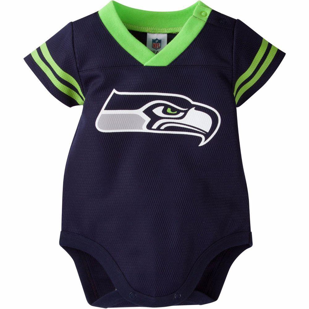 07c52e8d5 Gerber NFL Seattle Seahawks Unisex Infant Baby Jersey Style Dazzle Bodysuit   Gerber  JerseyStyle  SeattleSeahawks