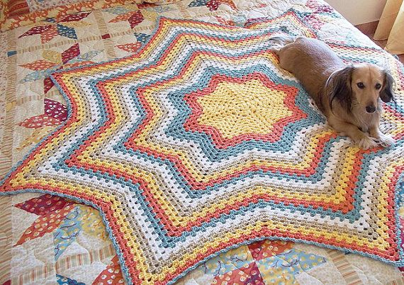 Granny Star an Eight Point Round Ripple Crochet by TheHookHound ...