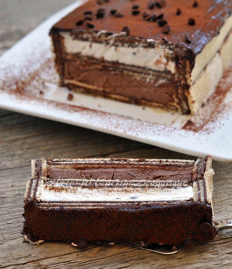 Mattonella fredda con wafer ricotta e cioccolato | dolci ...