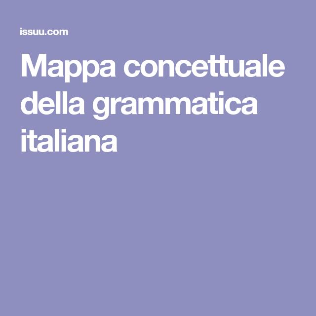 Mappa concettuale della grammatica italiana