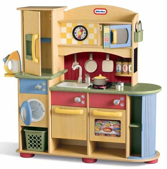 Children S Kitchen Playsets Little Tikes Christmas In July Clearance Sale Up To 50 Off Wooden Play Kitchen Play Kitchen Sets Kitchen Sets For Kids