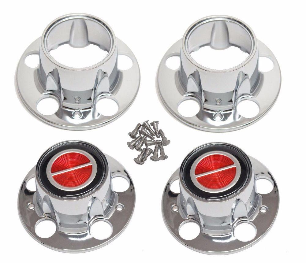 Bronco Ii Ranger Explorer 4x4 Wheel Chrome Center Hub Cap Set New Red W 2 Open Hub Caps 4x4 Wheels Bronco Ii