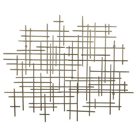 "Mid Century Wall Decor mid-century metal wall décor gold 36x30"" - threshold™ 
