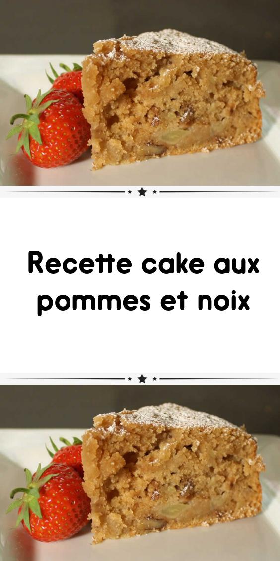 Recette cake aux pommes et noix #dessertlegerfacile