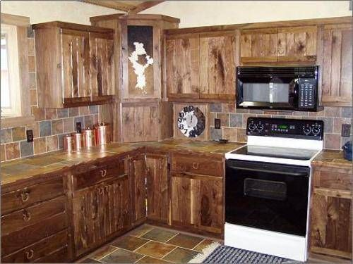 Western kitchen remodel on a budget image source http for Cheap rustic kitchen cabinets