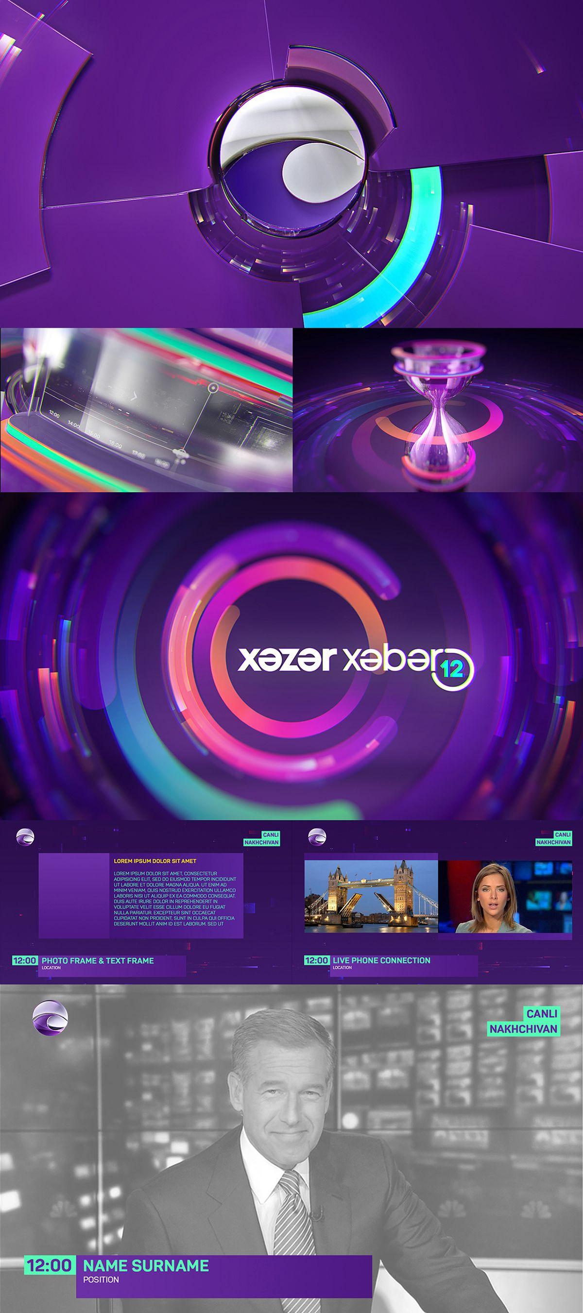 Khazar Channel branding on Behance