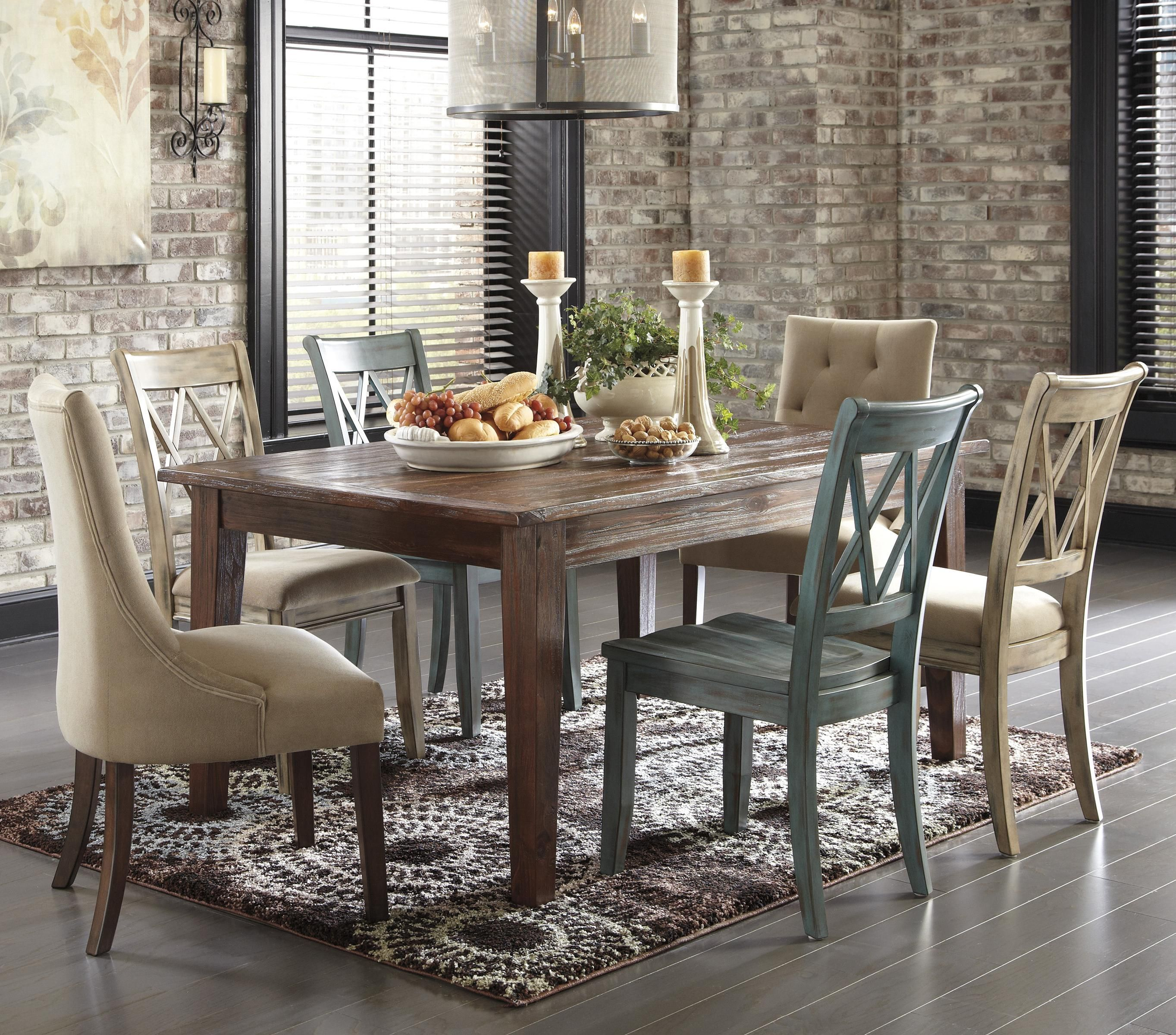 Mestler 7 Piece Table Set By Signature Design By Ashley Furniture