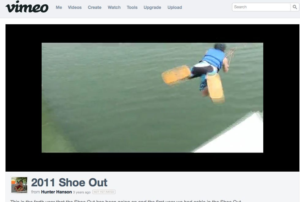 Video of Shoe Ski contest - Boat and Cable #waterski