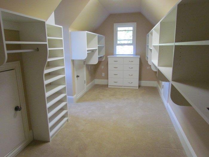Slanted Ceiling Closet Ideas atlanta closet sloped 5 atlanta