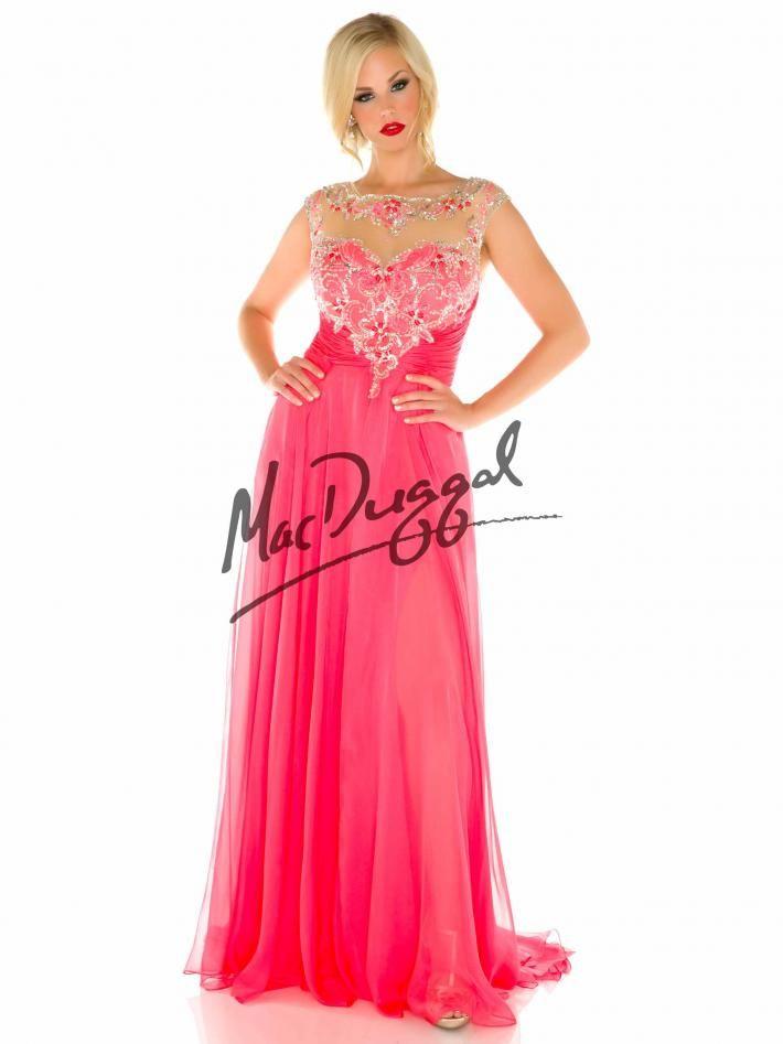 Pink Plus Size Prom Dress Princess Prom Dress Mac Duggal 76795f