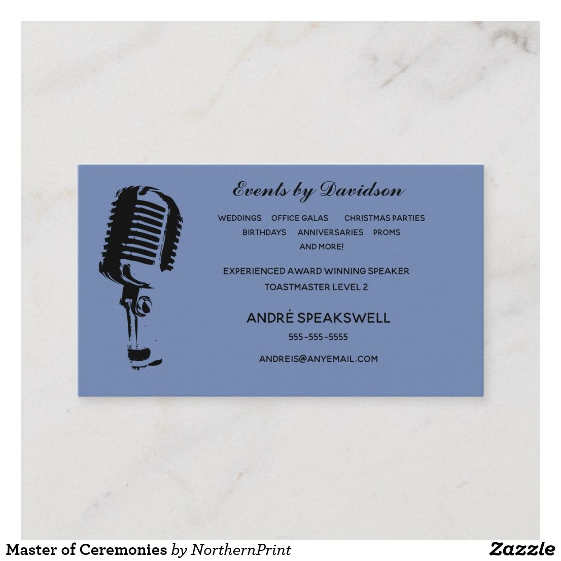 Master Of Ceremonies Business Card Zazzle Ca Master Of Ceremonies Business Cards Ceremony
