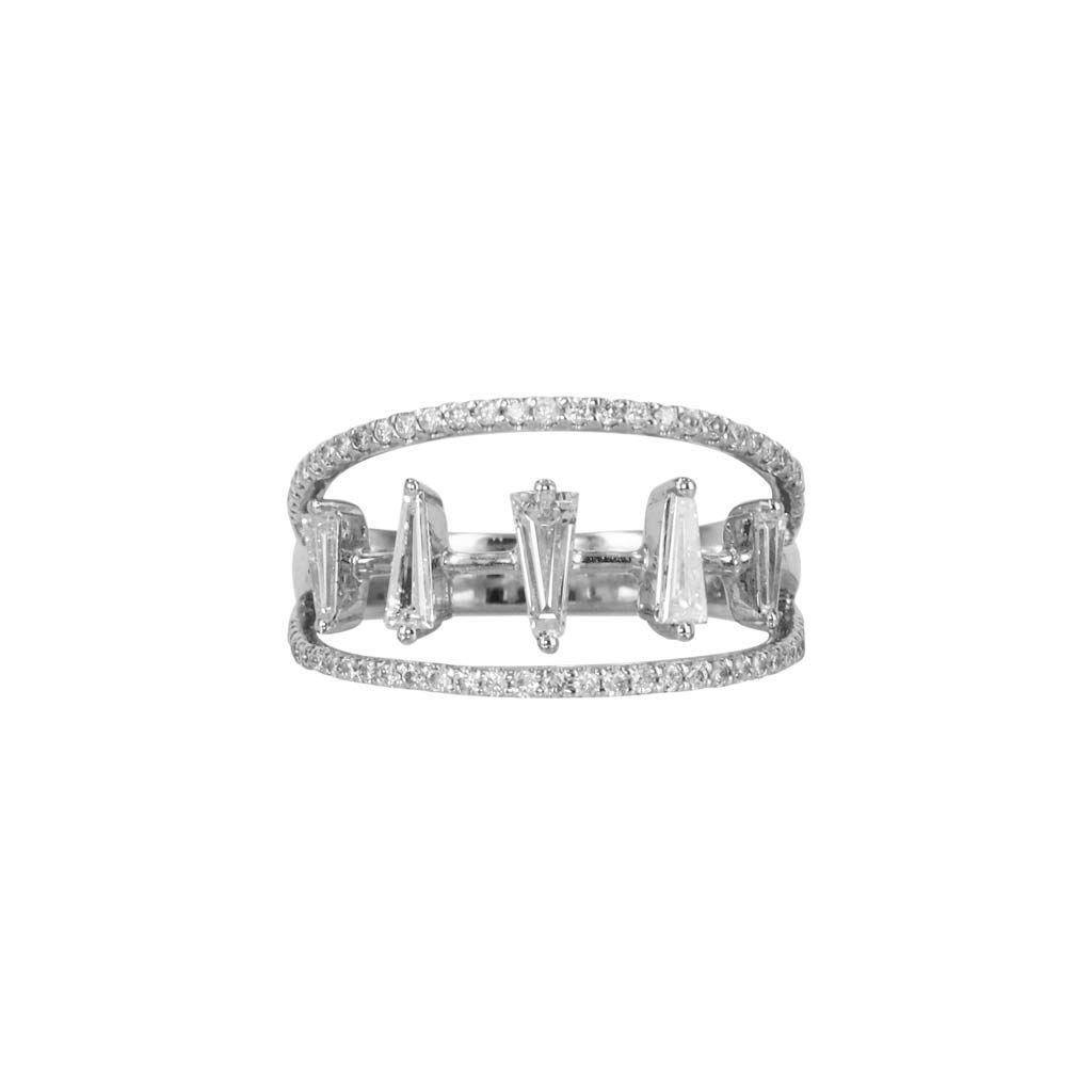 """5 Baguettes"" Diamond Multi Band Ring - Plukka - Shop Fine Jewelry Online"