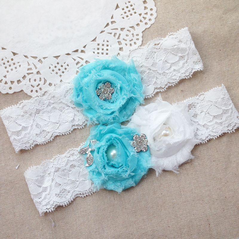 Find More Garters Information about Free Shipping 2pcs/set Aqua Blue ...