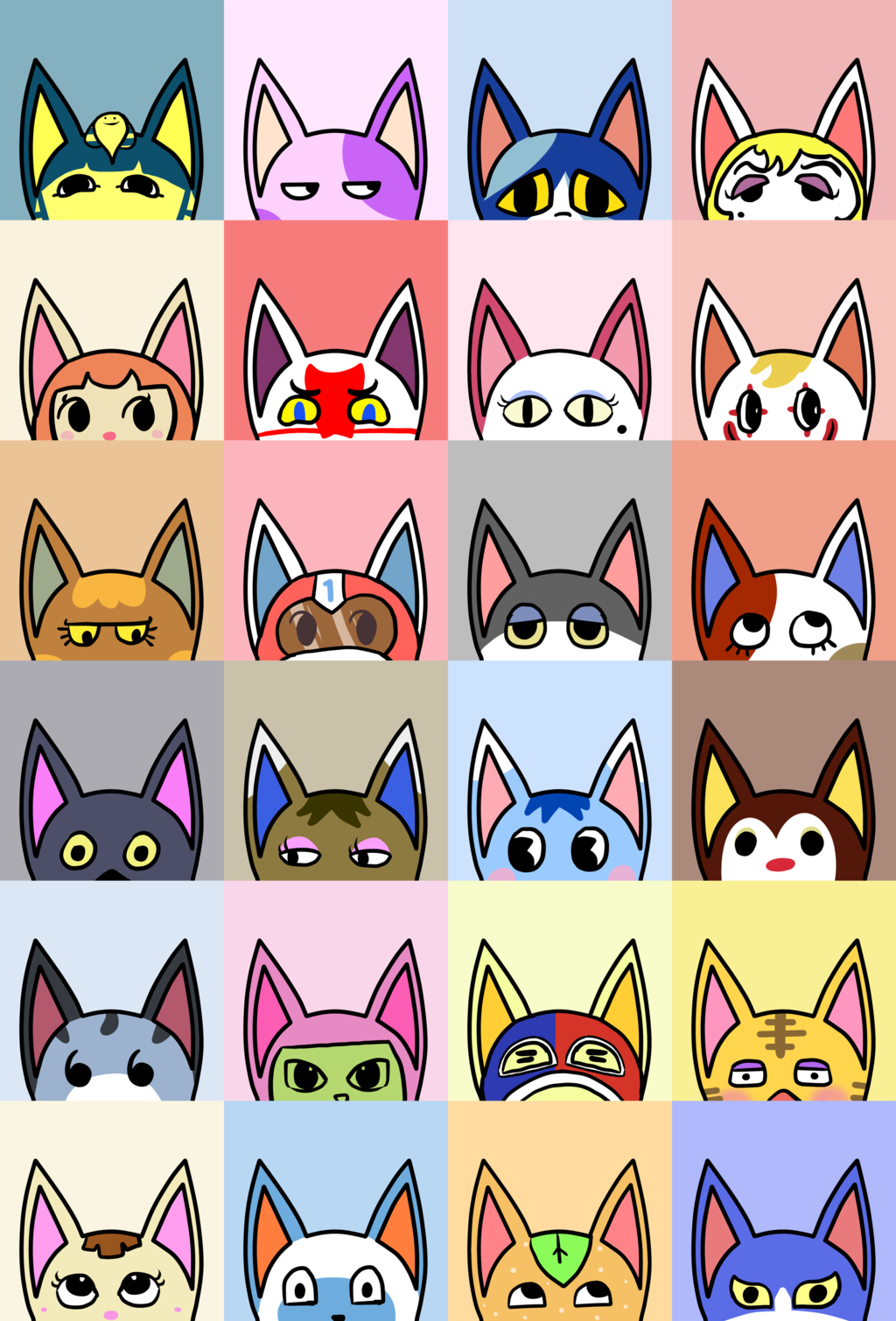 Animal Crossing New Leaf (ACNL) cats! Animal crossing