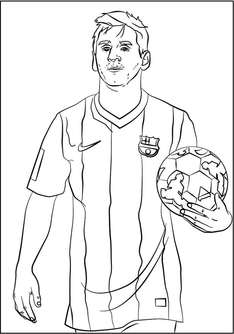 Lionel Messi Soccer Player Coloring Sheet Voetbal Tekenen Voetbal Tatoeages Haai Tekenen