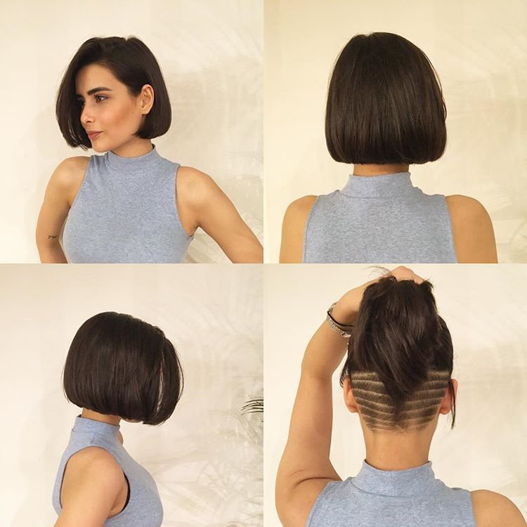 Chin,Length Bob with an Undercut in 2019
