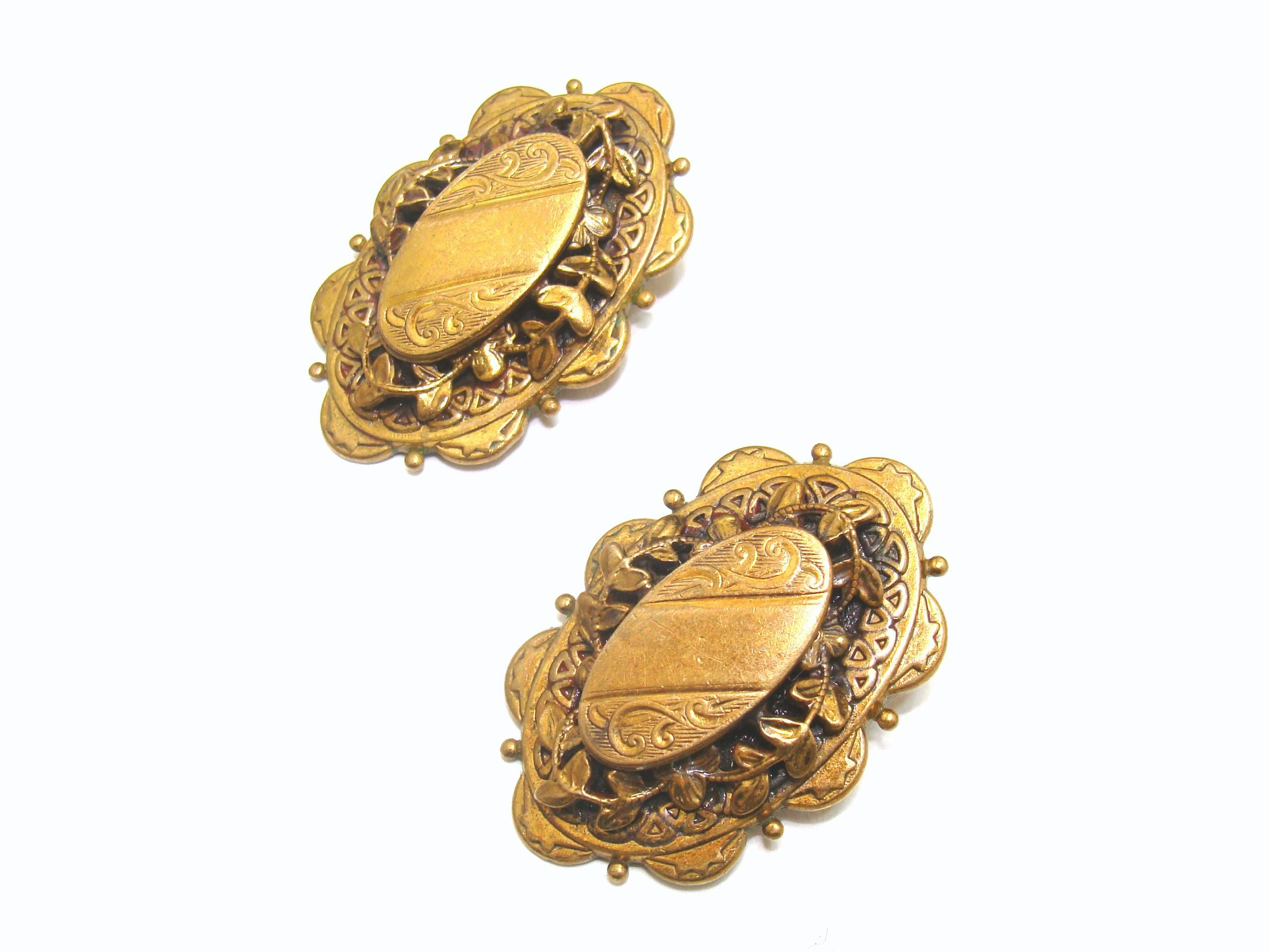 art antique pearl cameo angel deco framed earrings nouveau drop gold silver