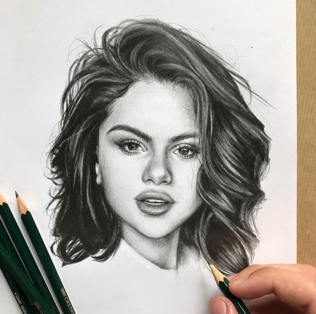 Selenagomez Gomez Selena Gomez Drawing Portrait Drawing Celebrity Drawings
