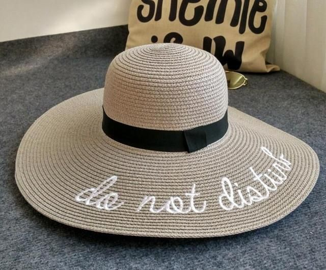 23517760158 2017 Fashion Summer Women Sun Hat Ladies Wide Brim Straw Hats Outdoor  Foldable Beach Panama Hats