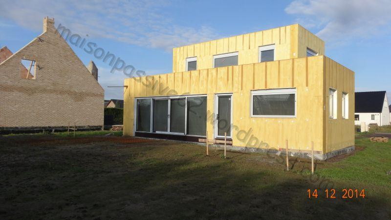Vue sud - Construction d\u0027une maison passive avec le système Pamaflex