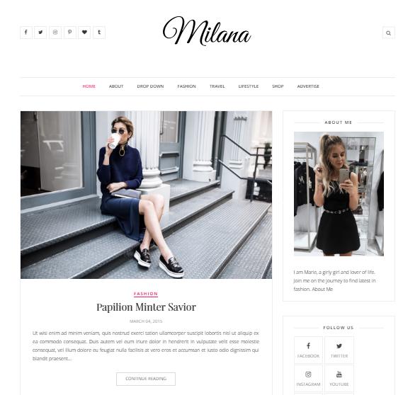 Milana SEO friendly responsive Blogger template « Free Google Blog ...