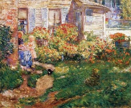 Childe Hassam (1859–1935),   A Fisherman Cottage , Gloucester