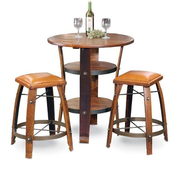 2 Day Designs Napa Bistro Table Tall Barrel Stave Table Is A Best Seller Year After Year Sip On Wine Fro Bistro Table Barrel Furniture Wine Barrel Furniture