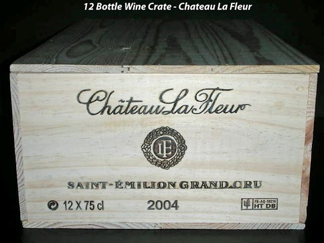 Chateau La Fleur 12 Bottle Wine Crate Country France Region Bordeaux Sub Region St Emilion Class Grand Cru Wooden Wine Crates Wine Crate Crates
