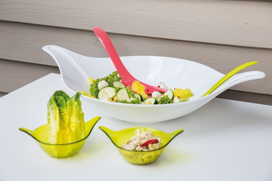 Leaf Salad bowl with built in servers  @koziolusa