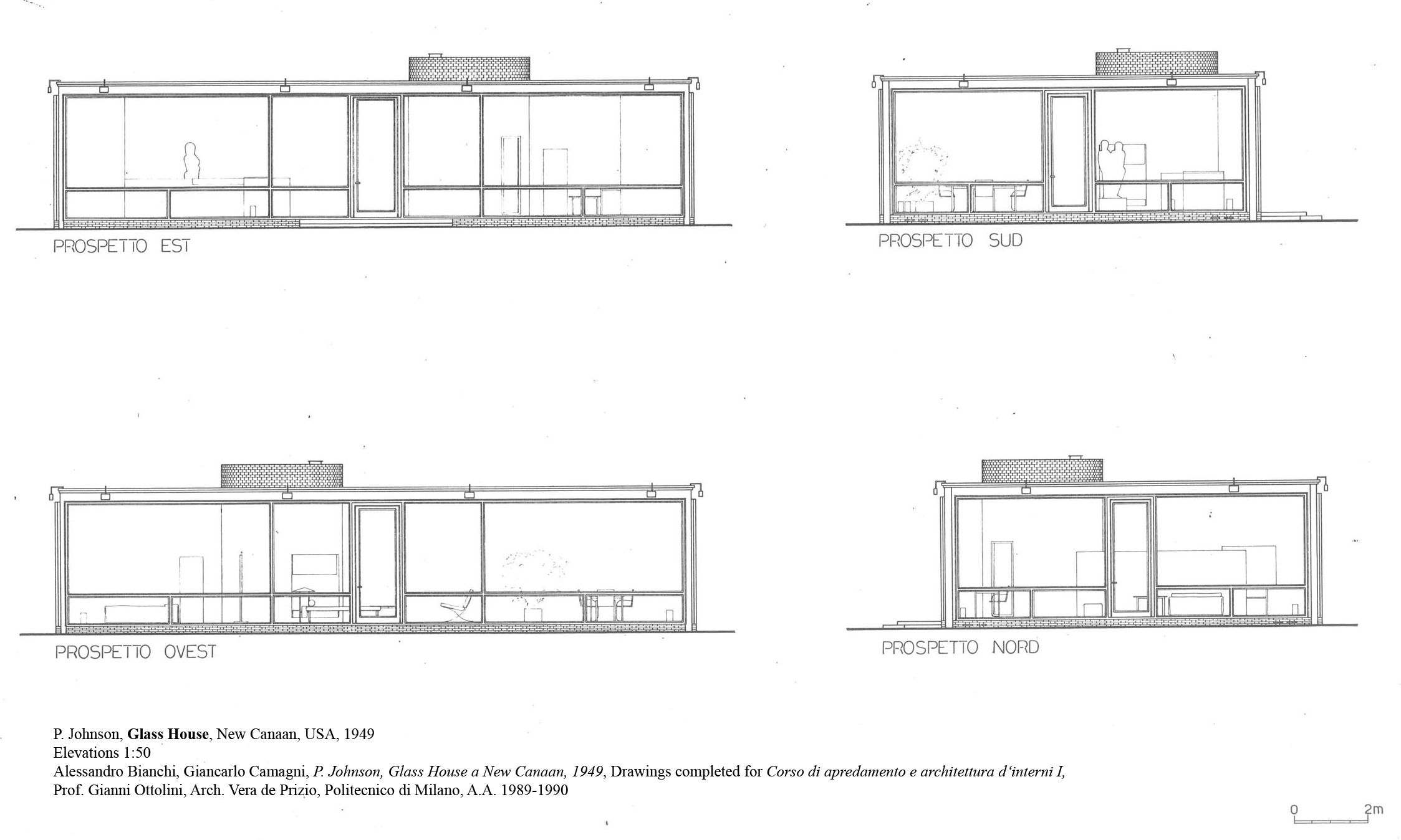 Philip johnson glass house layout