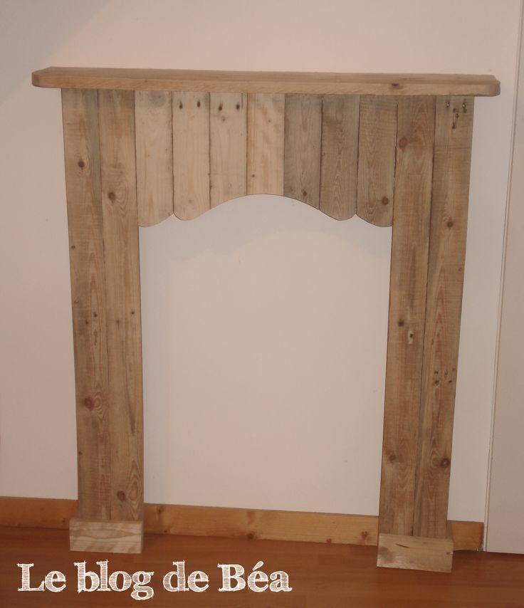 Decorative Fireplace From Pallet Wood / Fausse Cheminée En Bois De ...