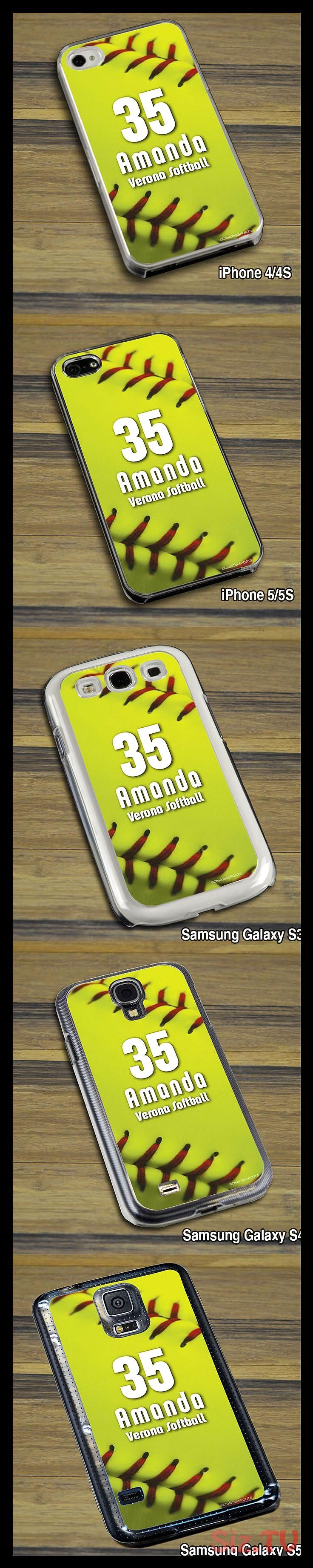 All of our awesome softball cell phone cases come in iPhone 4 and 5 all models and the Samsung Galaxy S3 S4 S5This case features our softball stAll of our awesome softbal...