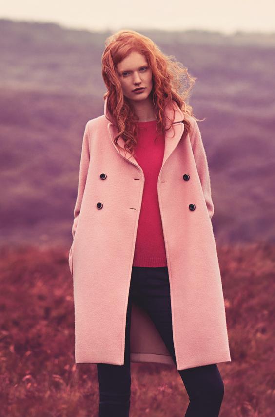 Jigsaw Pink Coat | Down Coat
