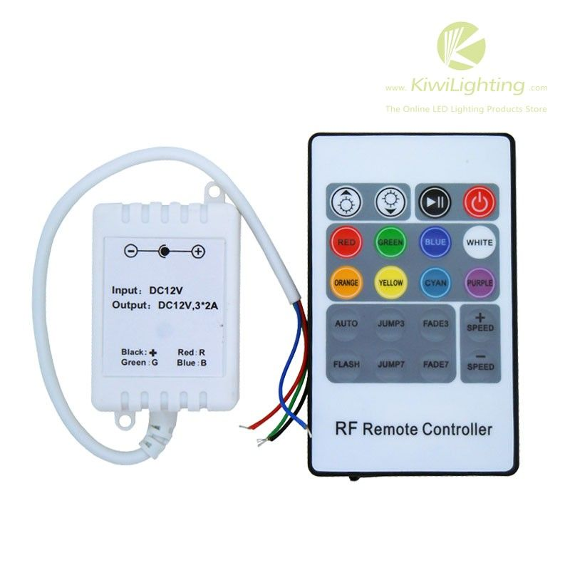 20 Key Rf Rgb Led Controller Dc 5v 24v 3 Channel 2a Ch Led Control Unit Remote
