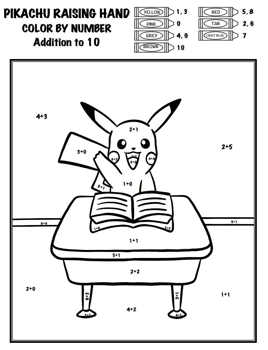 Get Your Students Back Into The Swing Of Things With These Pokemon Themed Color By Numbers Each Picture Is An Or Pokemon Coloring Pages School Bundles Pokemon [ 1221 x 935 Pixel ]