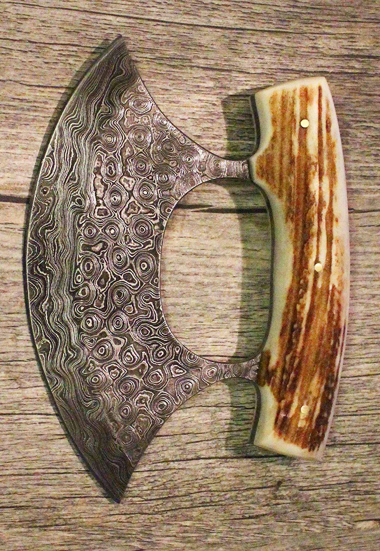 Damascus Steel Custom Inupiat Ulu Knife