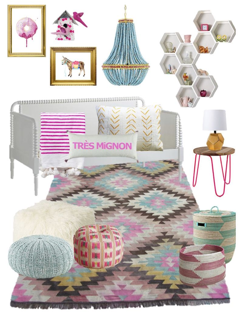 INSPIRATION BOARD: SHERBET // Kids Room, Kids Bedroom, Girls Room, Little