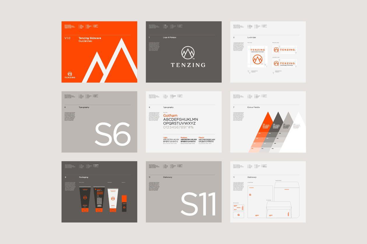 Tenzing Skincare Mash Creative Branding Design Branding Design Inspiration Brand Guidelines