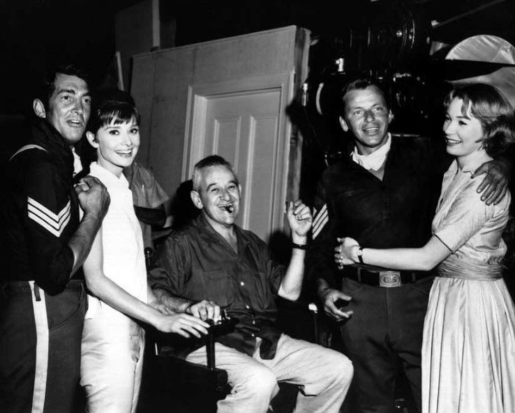 "Vintage Movie Club ️ on Instagram: ""Dean Martin, Audrey Hepburn, director William Wyler, Frank Sinatra and Shirley MacLaine on the set of The Children's Hour, 1961…"""