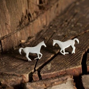 Silver Horse Earrings By Very Beryl