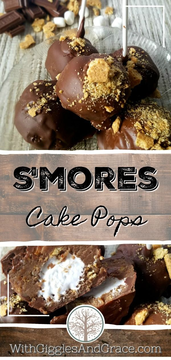 S'mores Cake Pops - With Giggles & Grace