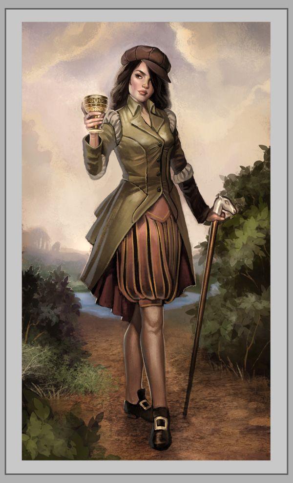 Knight of Cups - Steampunk Tarot.