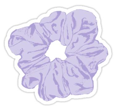 Purple Scrunchie Stickers By Mynameisliana Redbubble Iphone Case Stickers Preppy Stickers Tumblr Stickers