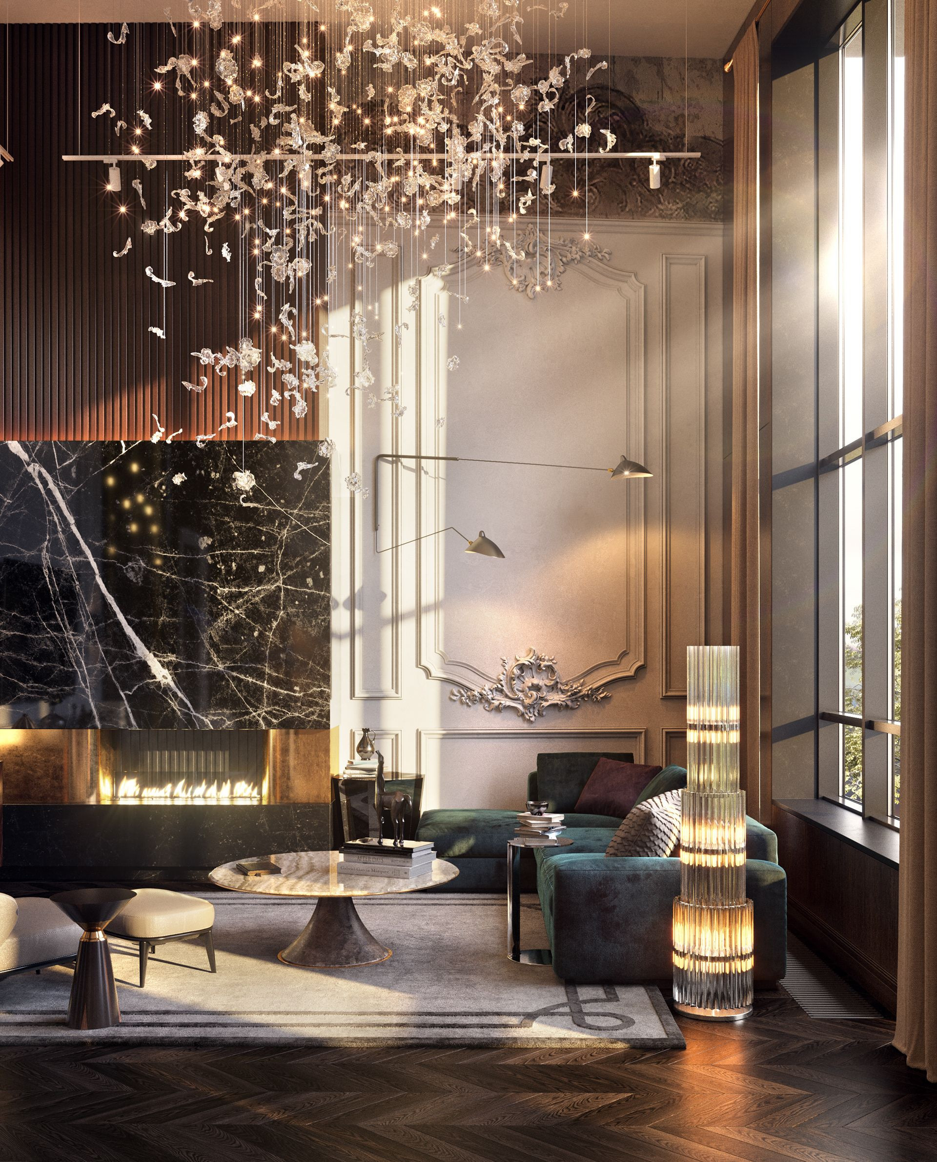 New Home Designs Latest Luxury Homes Interior Decoration: 3D-ANIMATION OF NEOCLASSIC INTERIOR On Behance