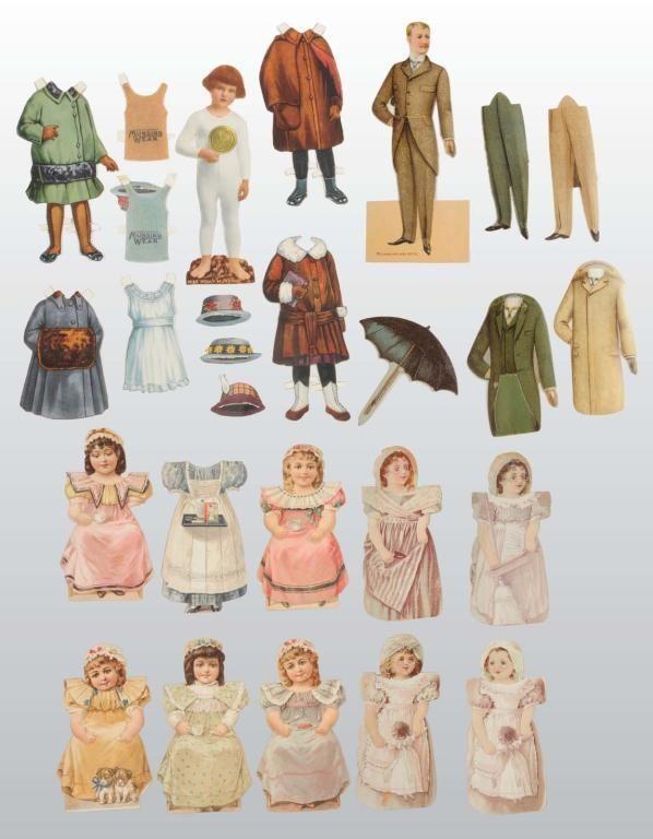 Lot of Advertising Paper Dolls.
