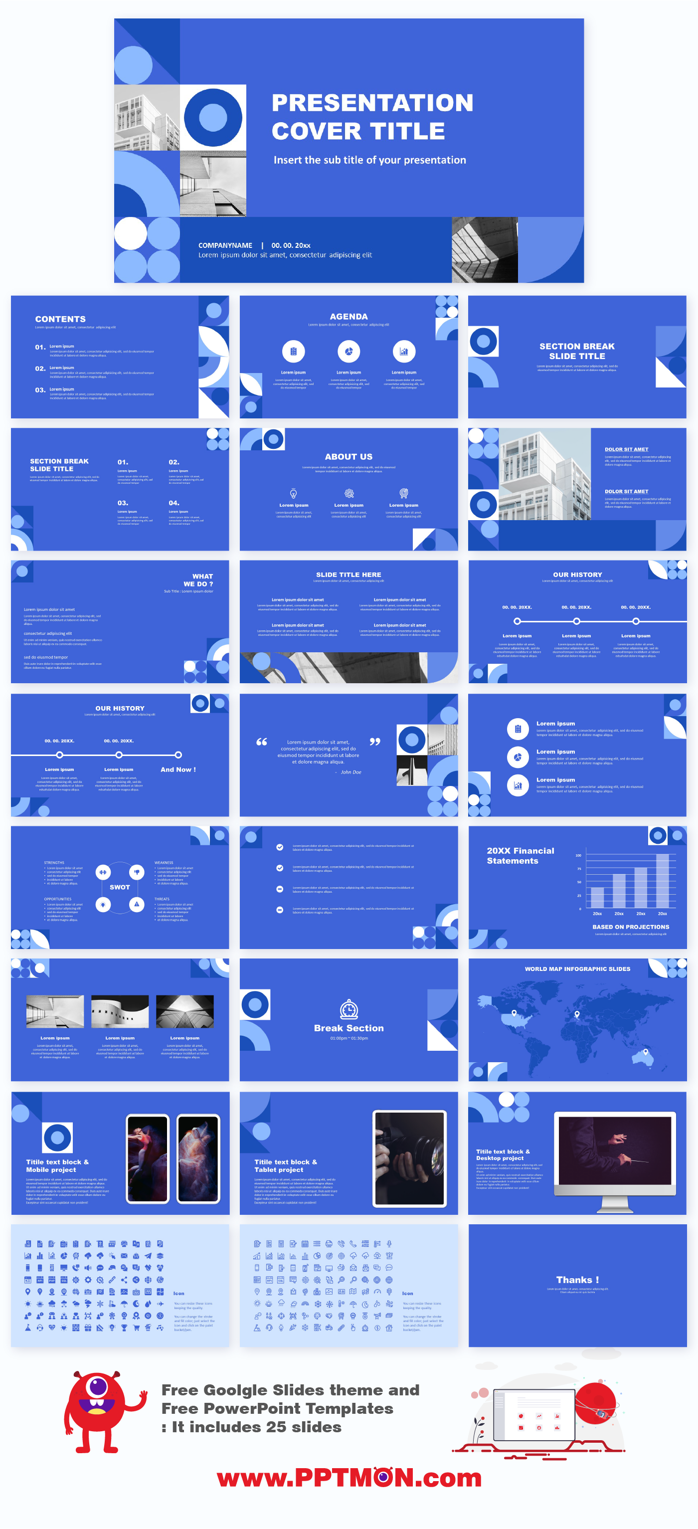 Blue Geometric Presentation Free Google Slide Theme And Powerpoint Templates Free D In 2020 Powerpoint Templates Powerpoint Template Free Powerpoint Design Templates