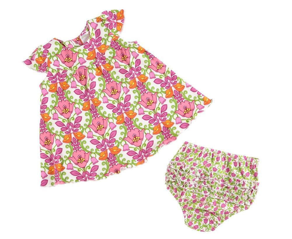 Dress code baby pink  Vera Bradley Infant Baby Girl Dress and Bloomers VeraBradley